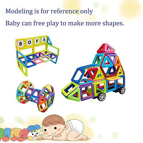 LianLe 119 Pieces Magnetic Building Blocks Kids Toys Educational 3D DIY Building Stack Sets