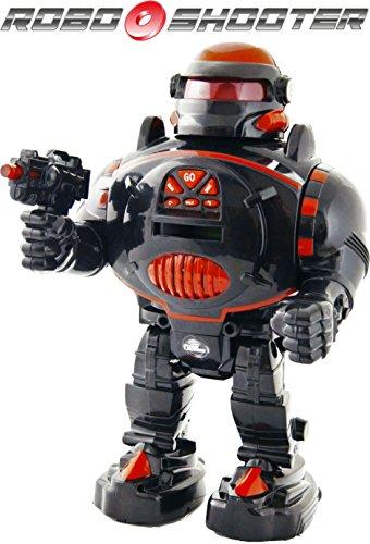 Remote Control Robot - RoboShooter Black Red Robot Toy - Fires Discs Dances Talks - Super Fun RC Robot TG542-R by ThinkGizmos