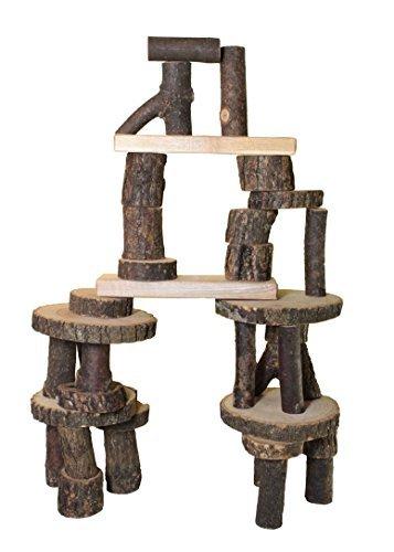 Tree Blocks Amazing Wooden Building Blocks Set 36 Pieces by Tree Blocks