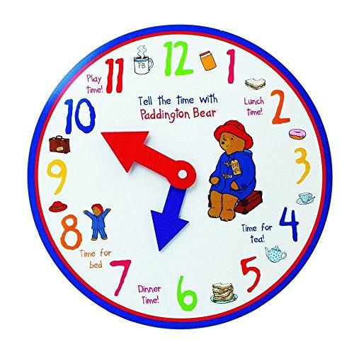PADDINGTON BEAR TELL THE TIME WOODEN TOY CLOCK