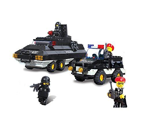 Sluban Building and Construction Blocks M38-B2000 Armored Patrol Building Block Construction Set 311 Piece