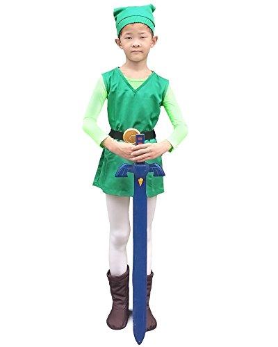 Miccostumes Boys the Legend of Zelda Four Swords Link Green Cosplay Costume S