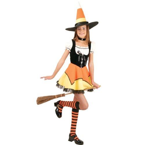 Charades Costumes Candy Corn Witch Child Costume OrangeYellow Large