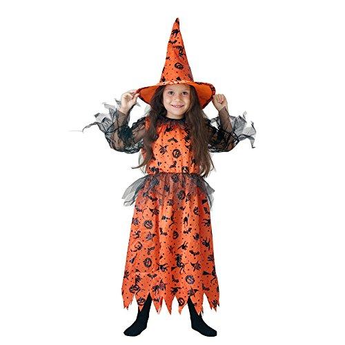 The Glamour Witch Child Costume 7-9 Orange