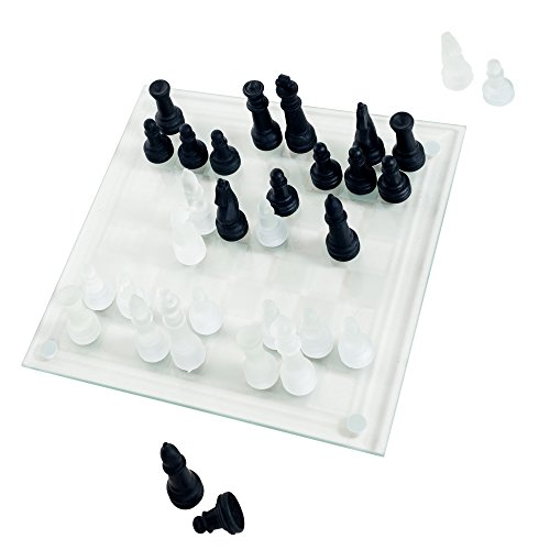Elegant Glass Chess And Checker Board Set