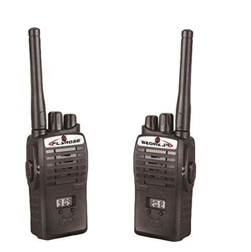 2x Perman Childrens Walkie Talkie Electronic Toys Kids Portable Mini Two-Way Radio Set 409-410MHZ 50 meters Black