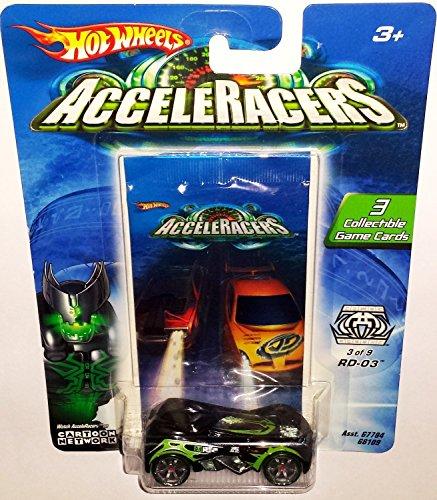 Hot Wheels AcceleRacers Racing Drones 3 of 9 RD-03 Black Green Version