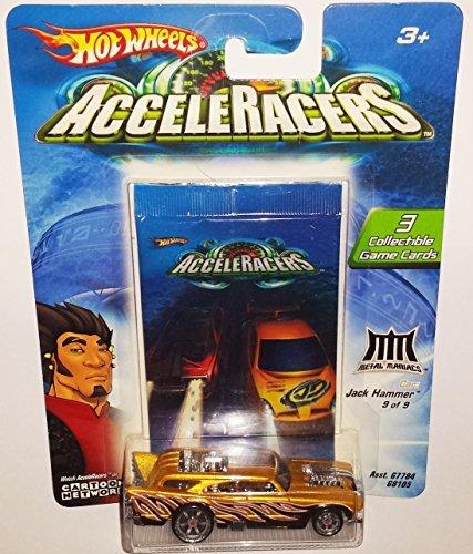 JACK HAMMER Die-Cast Car  Hot Wheels AcceleRacers  Metal Maniacs 9 of 9  2004