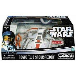 Hasbro 32461 Star Wars Rogue Two Snowspeeder Vehicle Playset Zev Senesca Pilot Figure - The Saga Collection 2006
