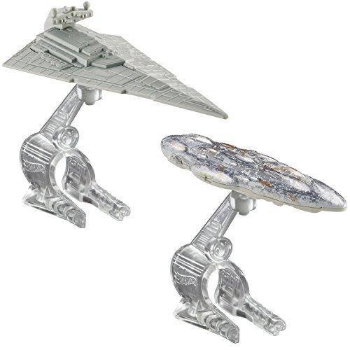 Hot Wheels Star Wars Starship Star Destroyer vs Mon Calamari Cruiser Vehicle 2-Pack by Hot Wheels