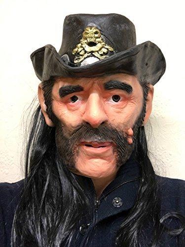 Lemmy Mask Latex Ace of Spades Kilmister Rocker Fancy Dress Party Masks by Rubber Johnnies Mask Toy Co