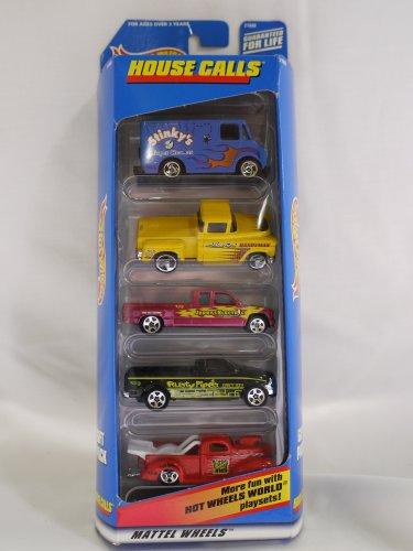 Hot Wheels HOUSE CALLS 5 Vehicle Gift Pack 1998