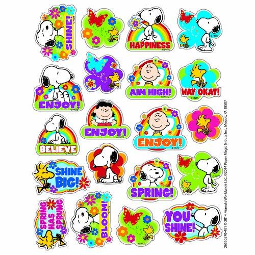 Eureka EU-655057 Peanuts Spring Theme Stickers