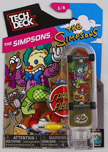 1 TECH DECK 96mm FINGERBOARD - SANTA CRUZ BOARD Simpsons 36 - New