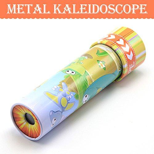 JXD Classic Toy Metal Animail Kaleidoscope W05Yellow1