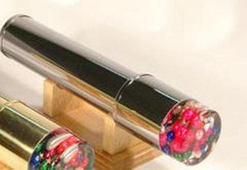 Kaleidoscope - Brass Kaleidoscope with revolving head and beads inside
