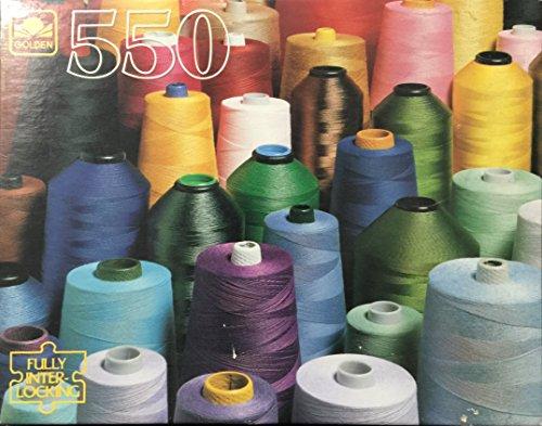 Golden 550 piece Vintage Puzzle-Colored Yarn