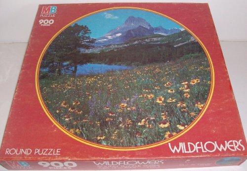 Wildflowers Vintage puzzle 900 piece round by Milton Bradley
