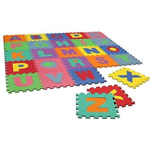 Charles Bentley Childrens Kids Soft Eva Foam Alphabet Jigsaw Puzzle PlayMat Interlocking Play mats Activity Mats by Charles Bentley