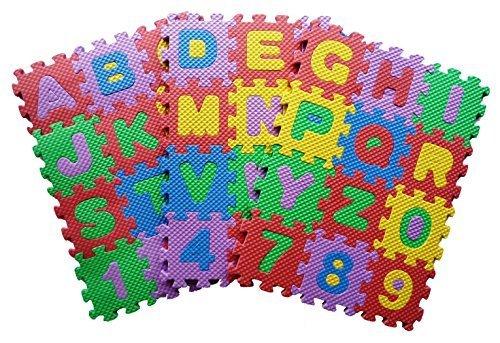Teach Kids to Learn ABC Alphabet English Jigsaw Puzzle Mat Toy Kids Boys Girls Nursery Class - Small Size 7x7 cm