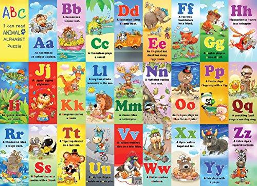 White Mountain Puzzles Animal Alphabet Jigsaw Puzzle 24 Piece
