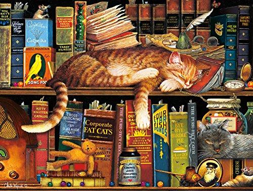 Buffalo Games Cat Tales by Charles Wysocki Jigsaw Puzzle 750 Piece