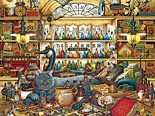 Buffalo Games Charles Wysocki Cats Elmer and Loretta 750 Piece Jigsaw Puzzle by Buffalo Games