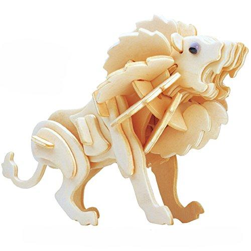Smilelove 3D Wooden Puzzle Animal Little Lion Jigsaw Puzzle Kids Educational Toys
