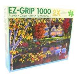 MasterPieces Puzzle Company Autumn Reflections EZ Grip Jigsaw Puzzle 1000-Piece Art by Kim Norlien