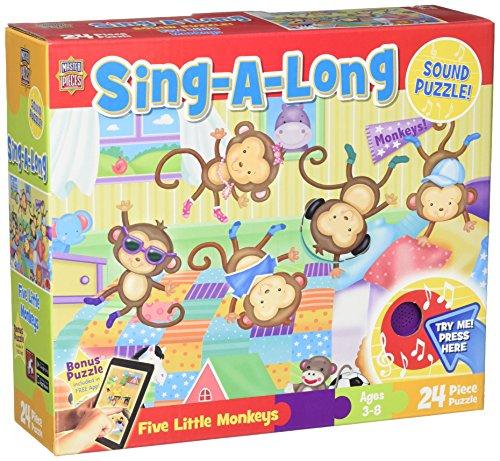 MasterPieces Puzzle Company Five Little Monkeys Floor Sound Puzzle 24-Piece Art by Janet Skiles