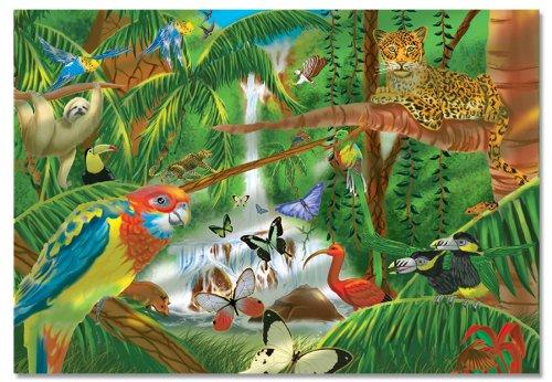 Melissa Doug Rainforest Jigsaw Puzzle 200-Piece