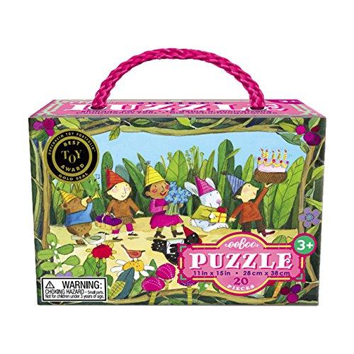 eeBoo Birthday Parade 20 Piece Puzzle