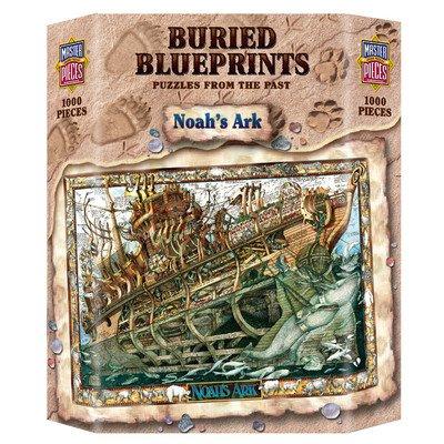 MasterPieces Buried Blueprints Noahs Ark Jigsaw Puzzle 1000-Piece