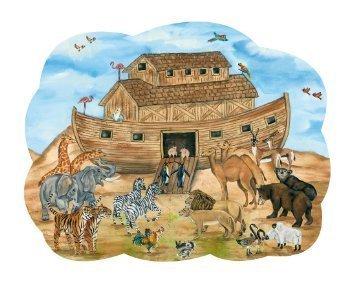 Miles Kimball Noahs Ark Scalloped-Edge Jigsaw Puzzle