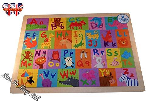 Childrens Alphabet Jigsaw Puzzle Wooden