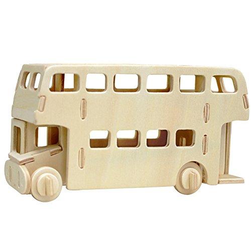 3D Wooden Jigsaw Puzzle Child Educational Woodcraft Puzzle Toy DIY Kit£¨JP238-London bus£©