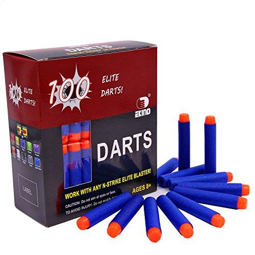 EKIND 100 Pcs 72cm Foam Darts for Nerf N-strike Elite Series Blasters Toy GunBlue
