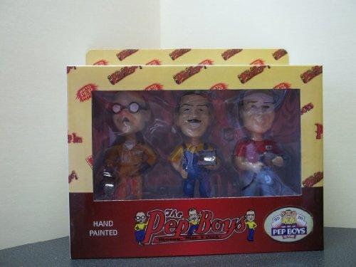 The Pep Boys Bobbleheads Set