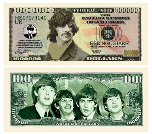 Set of 25 - Ringo Starr Million Dollar Bill