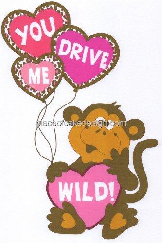8 Round ~ Valentines Day Love Monkey ~ Edible Image CakeCupcake Topper