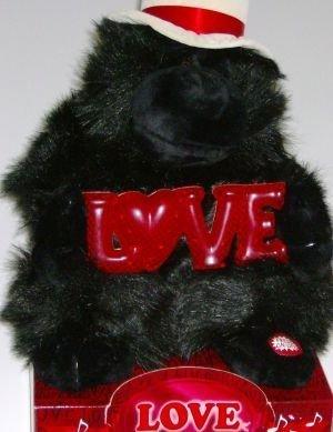 Love Monkey Big Gorillia Stuffed Animal Plush Ape with Love Sign Song by Dan Dee
