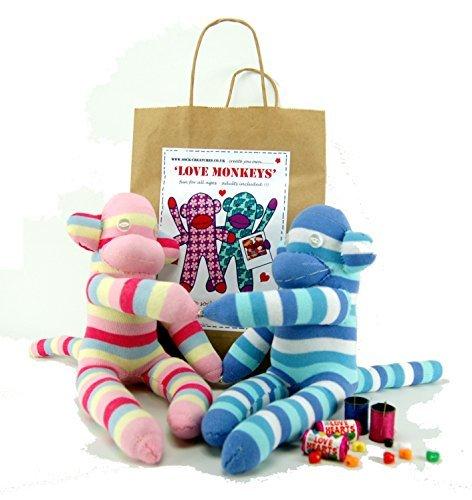 Sock Love Monkeys Craft Kit by Sock Creatures