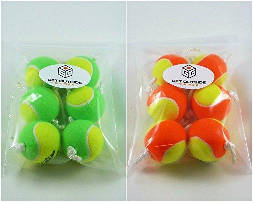 Get Outside Games Texas Toss Ball Kit - Tennis Balls for Ladder TossLadder GolfHillbilly Golf Green Orange Ball Kit