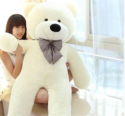 MorisMos 47 inch White color 12M Big Cute Plush Teddy Bear Huge Plush Animals Teddy Bear
