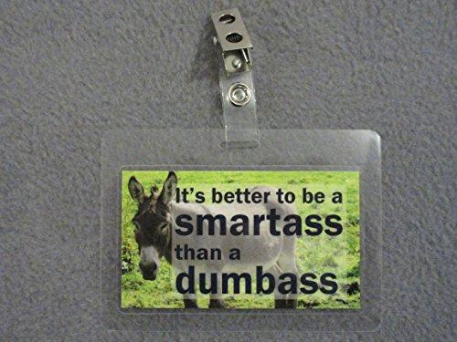 2PK BDG2 Smartass Novelty Clip on Badge collectable funny joke item gag gift