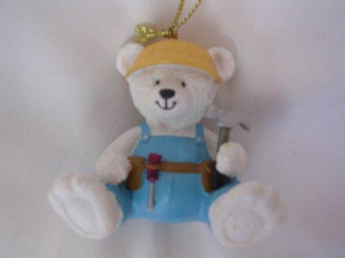 Christmas Ornament Teddy Bear 2 Collectible Home Decor  Construction