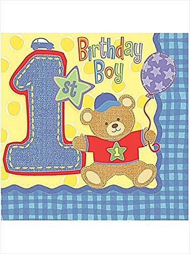 Hugs Stitches Teddy Bear 2-ply Small Napkins 16ct