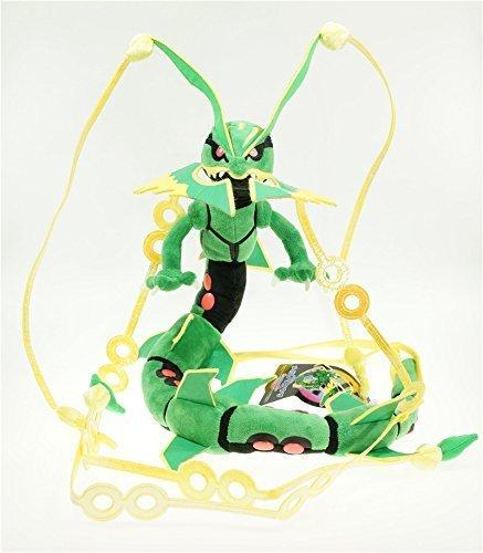 88cm 35 Green Pokemon Mega Rayquaza Plush Toy Stuffed Doll Figure by Cutepower