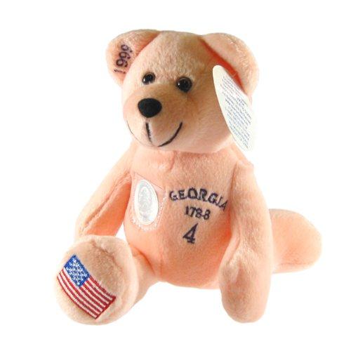 Georgia State Quarter Bear Collectible Stuffed Bear