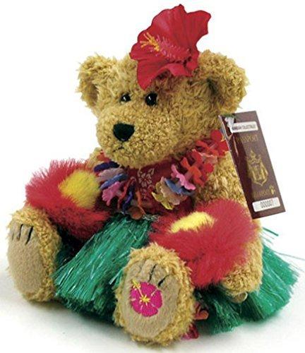 Plush Hawaiian Hula Dancer Bear Collectible